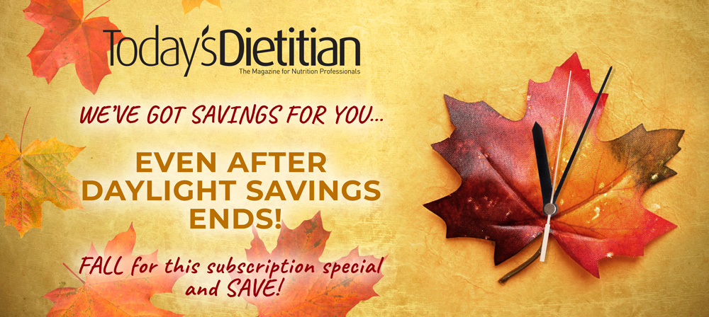 We've Got Savings For You...Even after Daylight Savings Ends! Fall for this subscription special and SAVE!